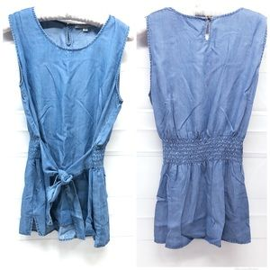 MARC NEW YORK | Chambray Tie Front Tank Top NWT